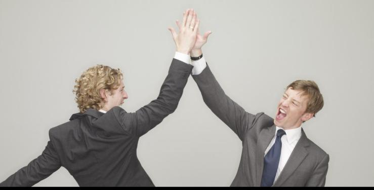 business-high-five